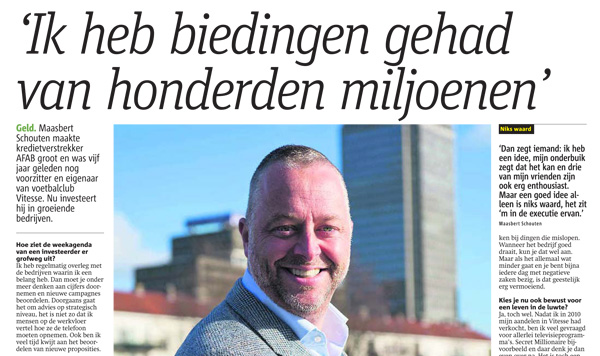 Maasbert Schouten interview Metro